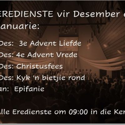 Eredienste: Desember en Januarie